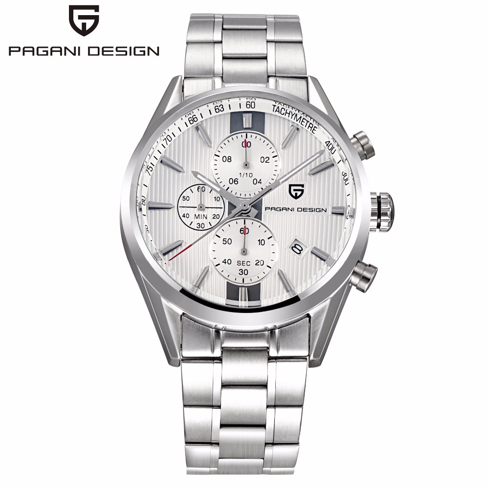 PAGANI DESIGN Business Mens Watches Top Brand Luxury Sport Chronograph Quartz Watch Men Multifunction Male Clock erkek kol saati 2017 mens business watches top brand luxury chronograph watch sport quartz wrist watch men clock male relogio erkek kol saati