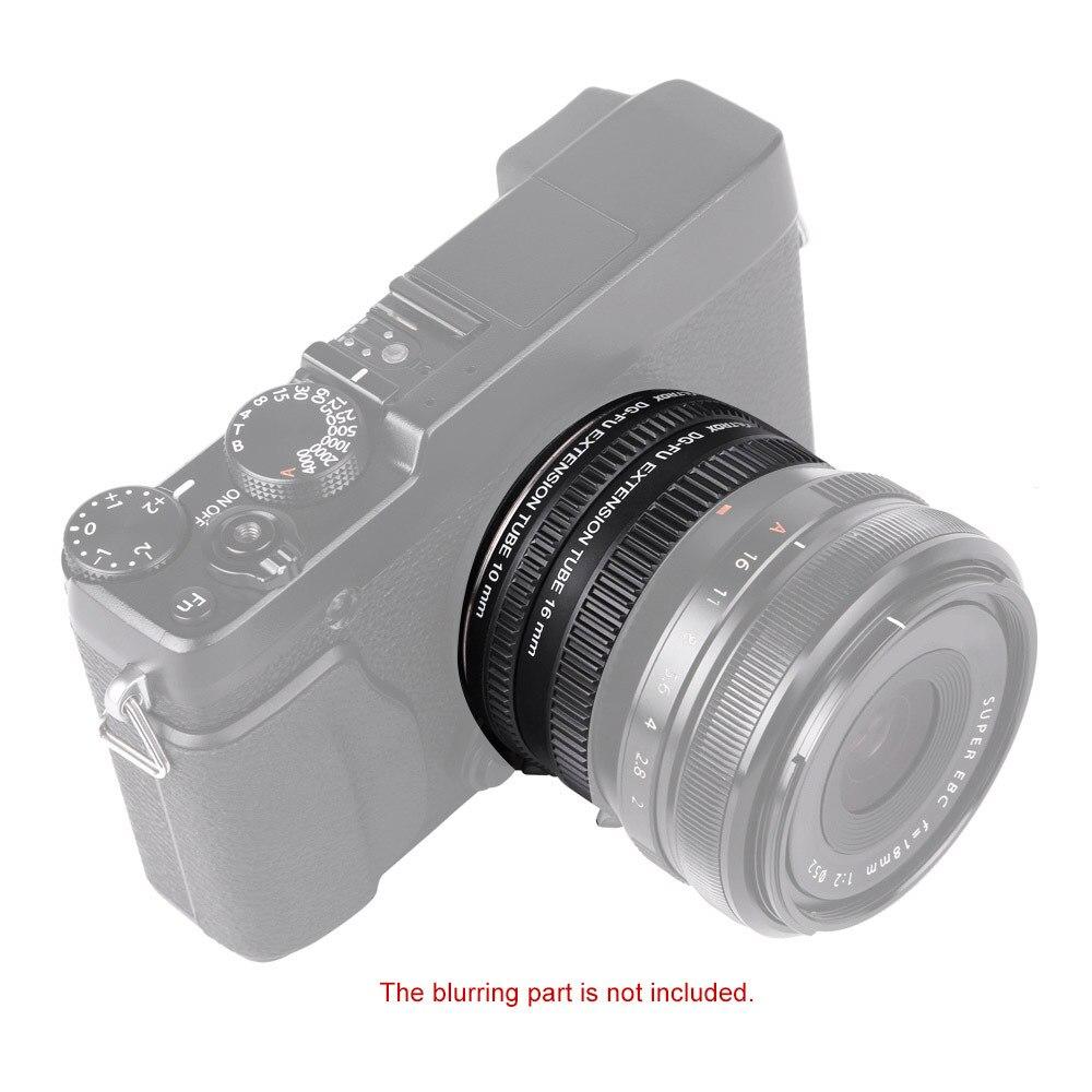 Viltrox DG-FU Auto Focus AF Macro Extension Tube anneau adaptateur d'objectif pour Fujifilm X monture Macro objectif caméra - 4