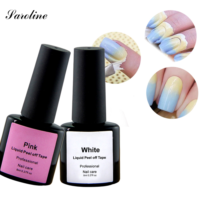 White pink Peel Off font b nail b font polish Easy clean Base Coat for skin