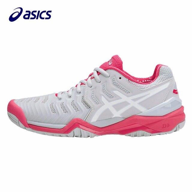 Breathable Women's Asics White Tennis Shoes