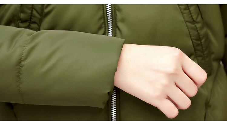 Short Women Basic Jackets Streetwear Warm Casual Coats Female Parka Cotton Hooded Winter Women Jacket Coat Outwear 19 DR114 15