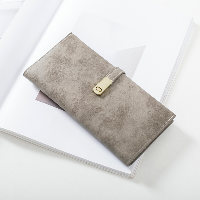 Fashion Nubuck Women Long Wallet Female Simple Style Vintage Day Clutches High Quality Lady Purse Bolsa Feminina Phone Package