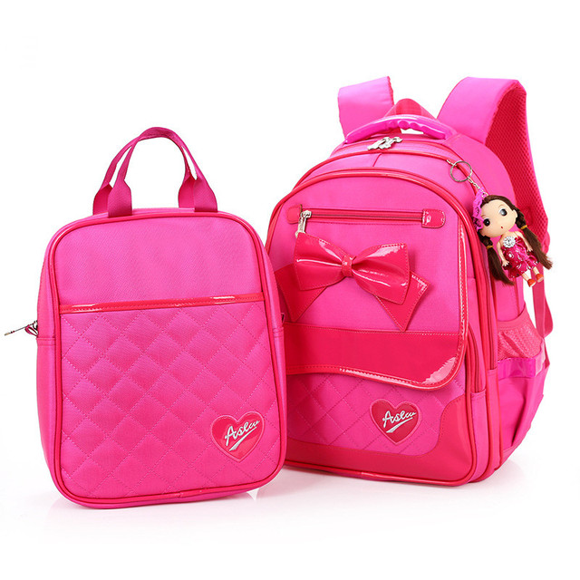 School Bag Nylon Children School Backpacks Set Princess Primary ...