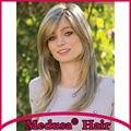 Medusa produtos para o cabelo: Sintético frete grátis perucas pastel para as mulheres Longo layered hetero Mix cor Mono peruca com franja SW0050C