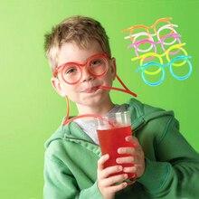 Соломинки интересные гаджеты питьевой смешные ребенка очки