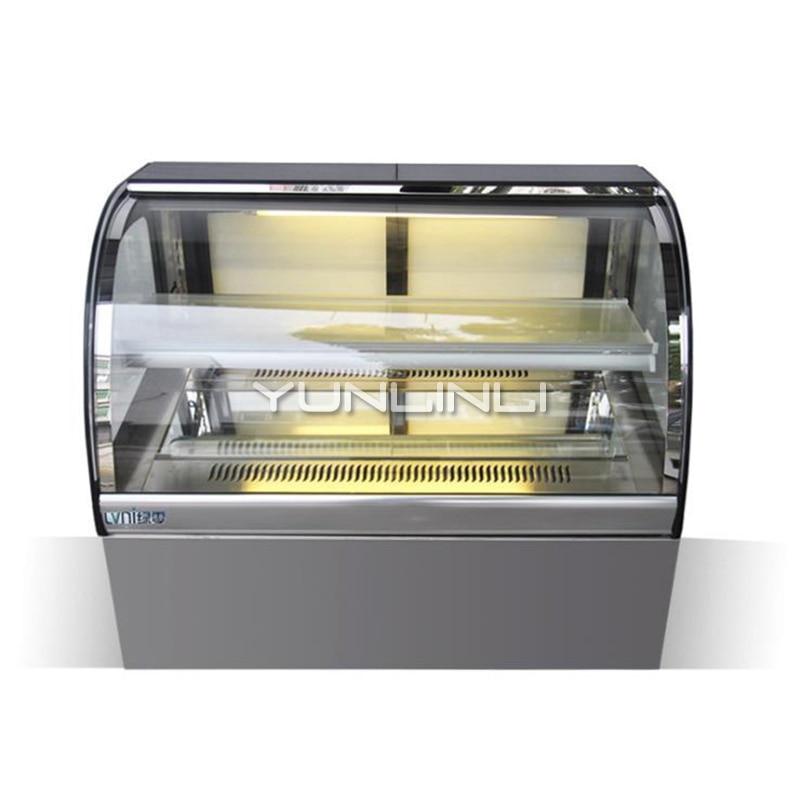 Bolo refrigerado armário comercial pão/frutas/sobremesa expositor gabinete comercial alimentos caso de armazenamento a frio LN-CT-90