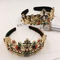 Bridal wedding crown hair ornaments retro Baroque ladybug crystal forest department luxury crown hair bands  1367