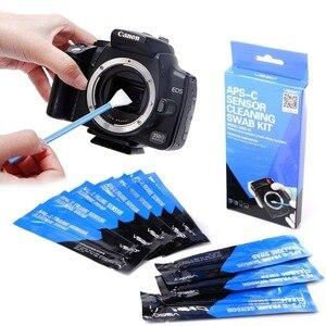 Image 2 - Kit de limpeza do sensor da câmera vsgo DDR 15 10pcs sensoe cotonetes para câmeras digitais nikon slr limpeza