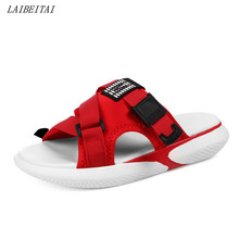 Купить с кэшбэком Women Summer Slippers Shoes Outdoor Sport Shoes Beach Diving Summer Sandals Red Color 3.5 High Increasing Light Weight