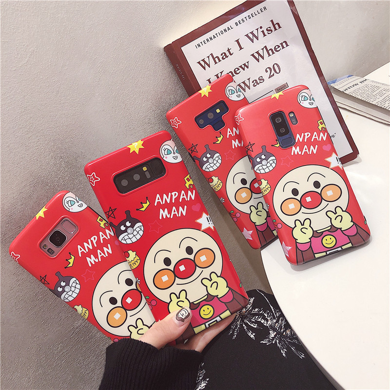 Phone Case For Samsung Galaxy Note 9 8 S9 Plus S8 Plus Cute cartoon bread superman red matte TPU pattern cover Mobile phone case feature phone