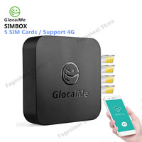 GlocalMe SIMBOX 4G 5 SIM Cards Adapter Smart WiFi Router Device Multi SIM Cards Box For IOS / Android Support 2G/3G/4G Network