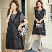 2018 Lace Maternity Dress Floral Pregnancy Clothes Loose Casual Chiffon Maternity Clothing Of Pregnant Women Vestidos