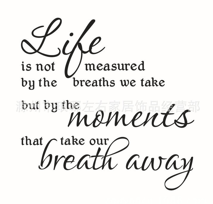 Perfect Life Is Not Measured By The Breaths Quote Wall Decals ZY8215 Decorative  Adesivo De Parede Removable Vinyl Wall Art Stickers In Wall Stickers From  Home ...