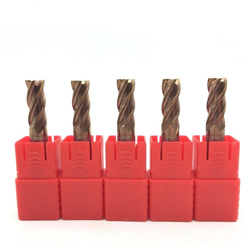 5PCS HRC60 12mm Solid Carbide Endmills ENDMILL D12X30XD12X75L 4 Flute Standard Length Side milling Slotting Profiling