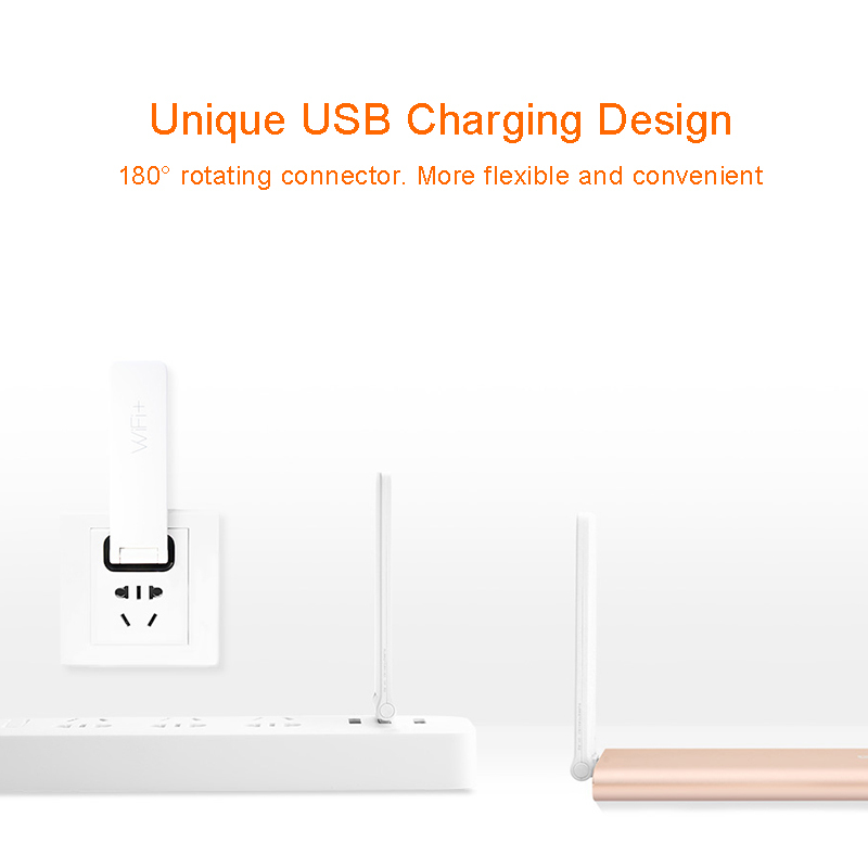 Original Xiaomi Mi WIFI Amplifier 2 Repeater 300Mbps Universal Wireless WIFI Extender Antenna WIFI Repitidor Signal Amplifier 3