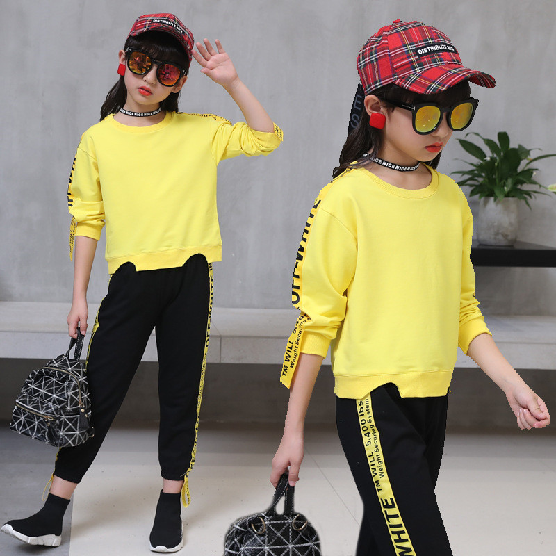 3-13Y Spring Autumn Girl T Shirt + Pants Set Fashion Baby Tracksuit Children Clothing Infantil O-Neck Kids Clothes Girls Suit toddler kids baby girl clothes fashion camouflage t shirt tops pants 2pcs outfits clothing set sport suit children tracksuit