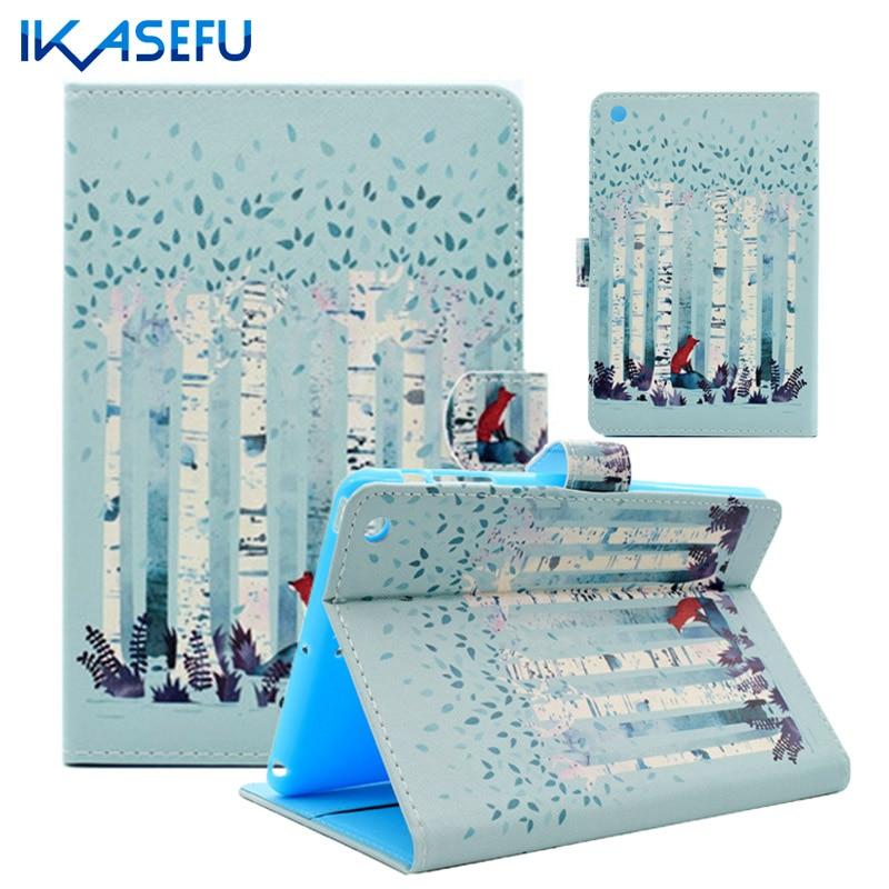IKASEFU Coque Funda for iPad mini 3 2 1 I Pad Stand Capa Case Cover TPU Back for mini ipad mini 123 mini1 mini2 mimi3 PU Leather