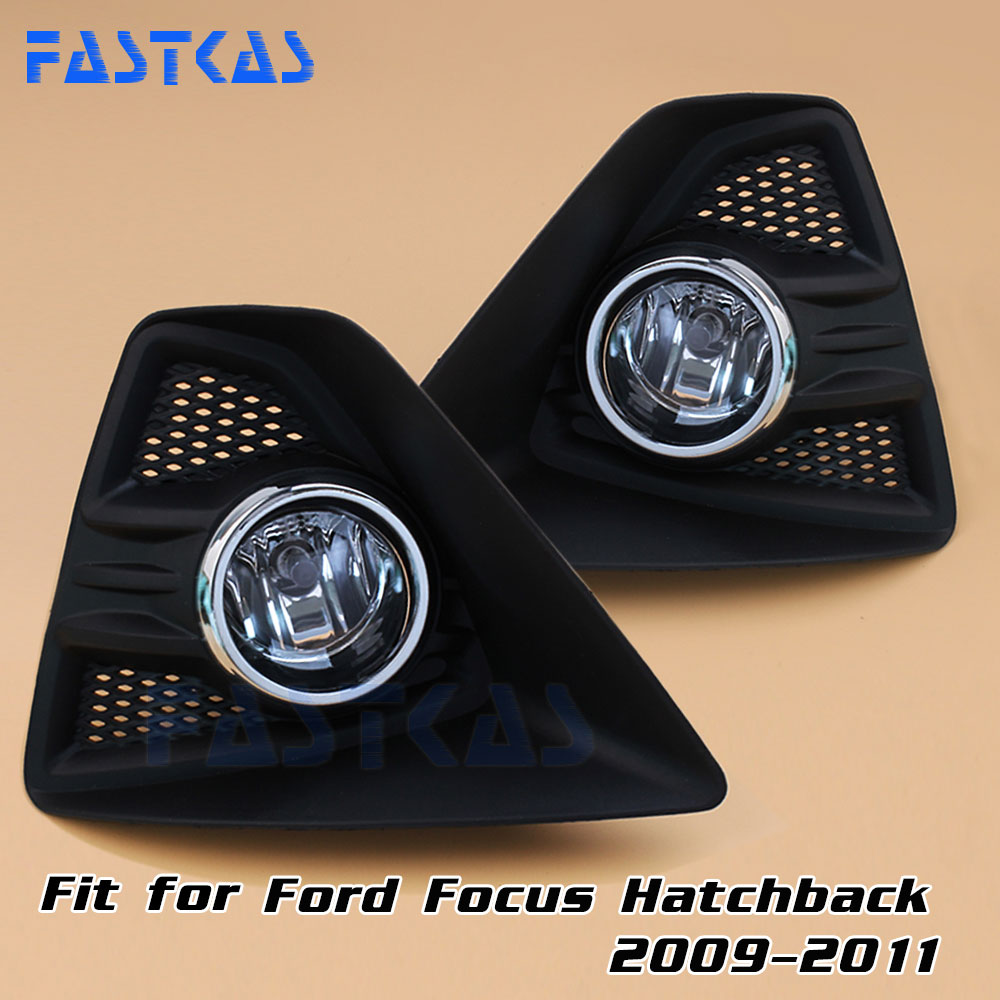 12v 55W Car Fog Light Assembly for Ford Focus Hatchback 2009 2010 2011 Front Fog Light Lamp with Harness Relay Fog Light car modification lamp fog lamps safety light h11 12v 55w suitable for mitsubishi triton l200 2009 2010 2011 2012 on