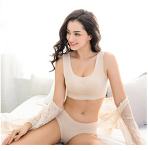 Japanese fashion seamless lace beauty back bra peace underwear sports thin section set