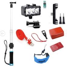 SHOOT Underwater Diving Accessories Set for GoPro Hero 5 4 3 SJCAM Xiaomi Yi 4K Eken h9 float hand strap diving waterproof light