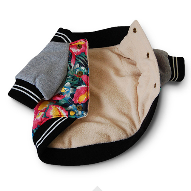 Veste à capuche pour chien imprimé fleurs | Vêtements à capuche pour petit chiot chien, vêtements décontractés pour chiens de qualité,,, longue, tendance