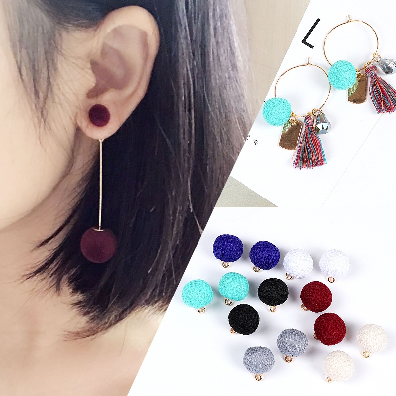 6pcs Round Pendant for DIY Earring Making Findings Ear Jewelry Accessories Stud/Drop Earring Handmade Accessory for Women Girls