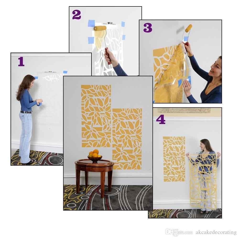 曼荼羅ステンシル壁ステンシル鹿ヘッド花のステンシルテンプレート壁の絵画装飾エンボス紙カード WS-113