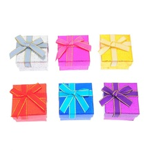 Wholesale Jewelry Box 5*5*3.4 cm, Six Colors Fashion Rings Box,Earrings/Pendant Display Packaging Gift 12pcs/lot