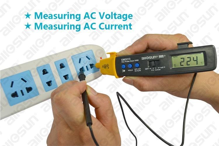 AutoRange Pen stílusú digitális multiméter DMM AC DC Volt Amp Ohm - Mérőműszerek - Fénykép 4