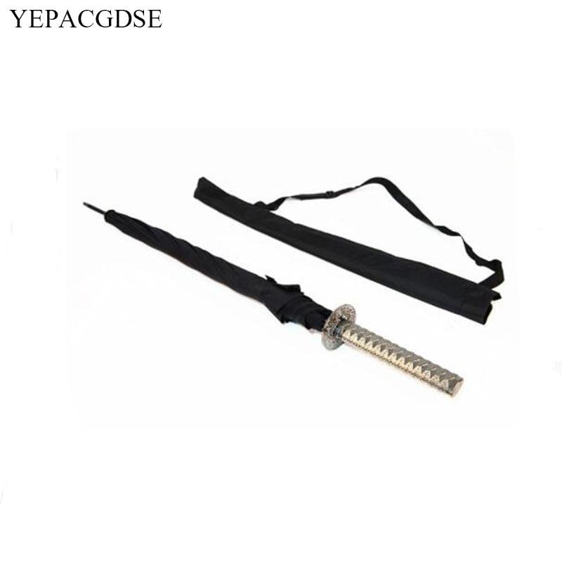 Fashion Long Handle Man Automatic Umbrella Windproof Business Sword Warrior