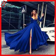 2019 new women dresses white black blue red color party long sexy elegant deep V sleeve club Milk silk maxi dress