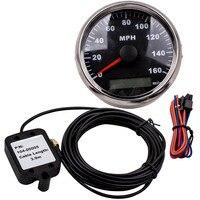 85mm Preto GPS Velocímetro Medidor Display LED Precisa 9 0-160MPH para o Caminhão Do Carro Da Motocicleta-32 VDC