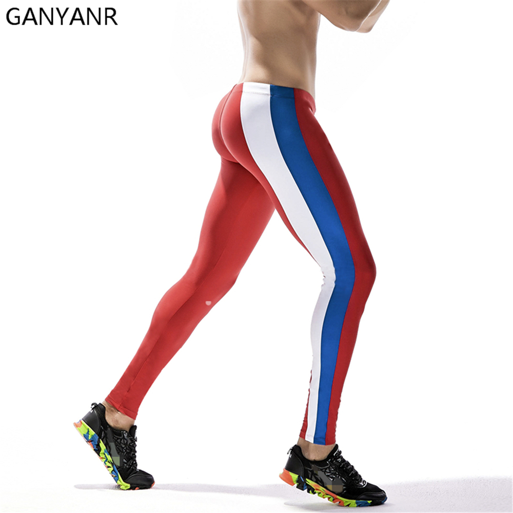 GANYANR Brand Running Tights Men Sportswear Leggings