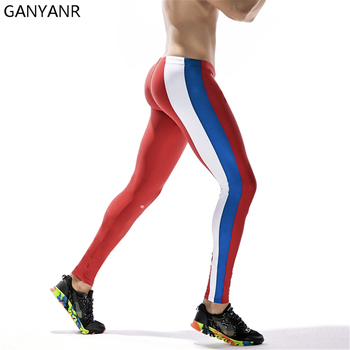 GANYANR Brand Running Tights Men Sportswear Leggings Compression Pants Basketball Yoga Trousers Gym Fitness Athletic Nylon ganyanr running tights men yoga basketball sports leggings fitness compression long pants bodybuilding gym jogging athletic sexy