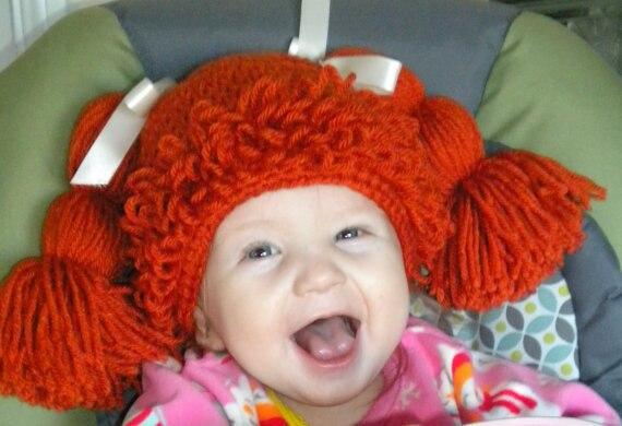 Baby Wig Hat Photo Prop Photography Prop Crochet Baby Wig Hat