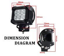 """4 """"pollici 18 W LED Work Lamp Luce per Moto Trattori Boat Off strada 4WD 4×4 Per Il Camion SUV ATV Spot Flood 12 v 24 v"""