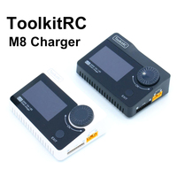 ToolkitRC M8 Battery 300w 15A Charger , Cell checker ,Servo Tester , Receiver tester & Variable DC Output controller 1 8S