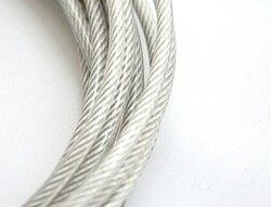 4 MM, 5 MM 10 Mt, 7X7, 304 edelstahl drahtseil mit pvc-beschichtung weicher angeln beschichtet kabel wäscheleine zugseil lift
