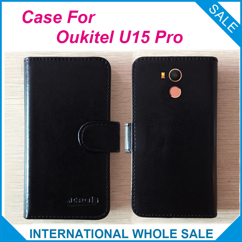 6 barev Hot! 2017 U15 Pro Oukitel Pouzdro, Vysoce Kvalitní Kožené Exkluzivní Pouzdro pro Oukitel U15 Pro Ochranný Telefon Sledování Krytí