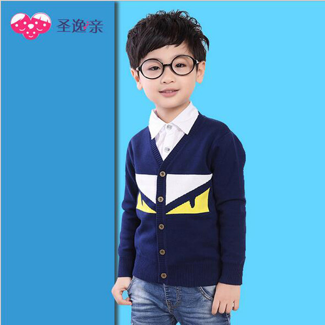 c38865e05 Autumn Winter Toddler Boys Sweater Infant Knitting Kids Sweaters ...
