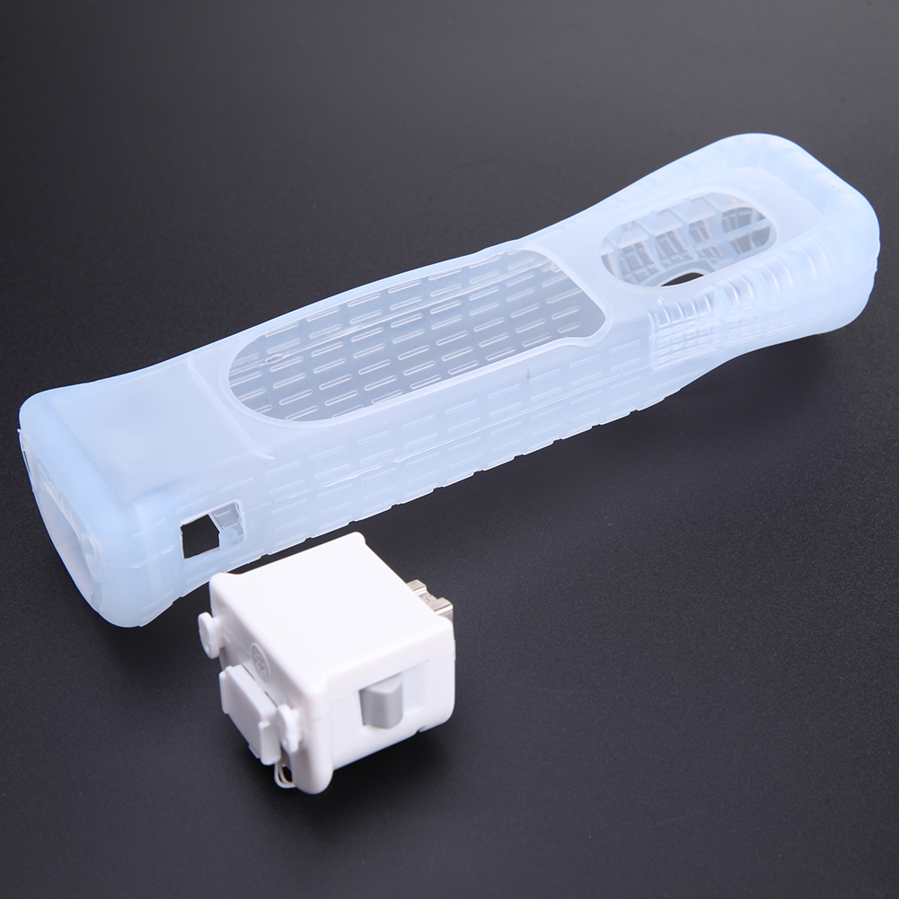 Hot Selling White Motion Plus Adapter Sensor + Silicone Case for Nintendo For Wii Remote Console стоимость