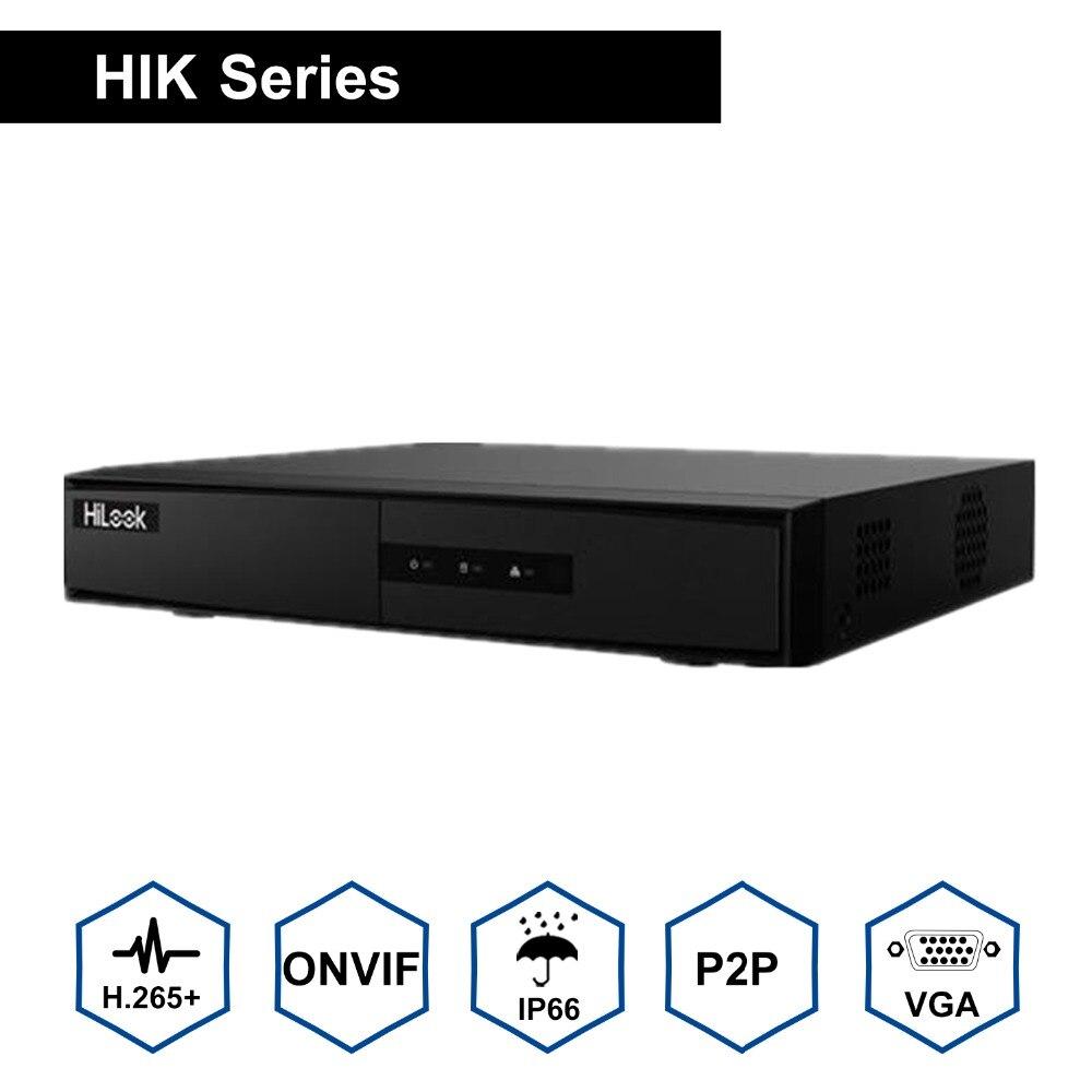 HiLook 4/8ch CCTV система протокола ONVIF NVR 104MH C/4 P & NVR 104MH C/4 P Hikvision Plug & Play 4/8 Channel 4 K PoE NVR 1 SATA VCA обнаружения