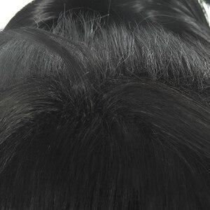 Image 5 - Парик для косплея Dororo Hyakkimaru L email, парик для косплея черного цвета с конским хвостом, термостойкие синтетические волосы для Хэллоуина