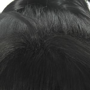 Image 5 - L メールかつらどろろ Hyakkimaru コスプレウィッグ黒コスプレかつらポニーテールハロウィン耐熱人工毛