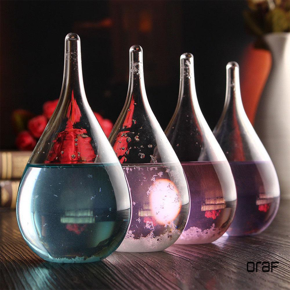 ORAF 4 color Weather Forecast Crystal Bottle Transparant Water Drop Storm Glass with the base Home Dec for Christmas