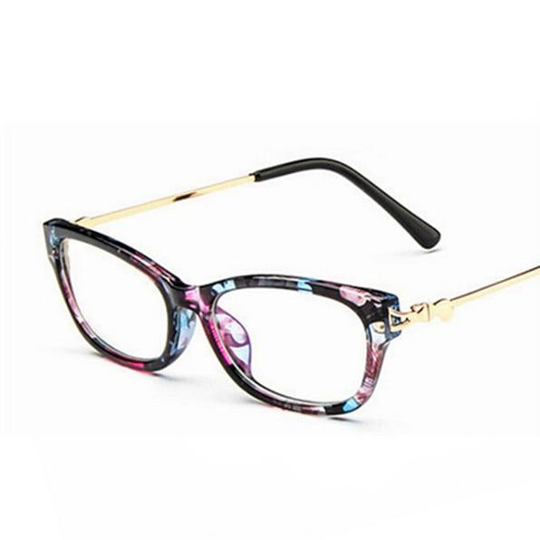 944ccdf85d60c Diseño de marca moda ojo Gafas Marcos s mujeres lente transparente Gafas  ordenador decorativo óptico Marcos