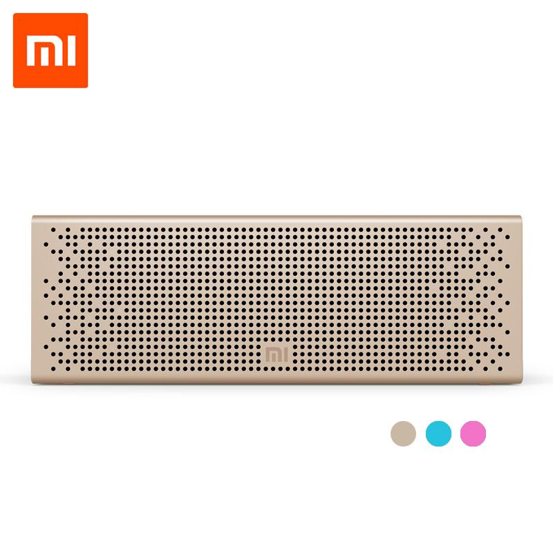 Prix pour D'origine xiaomi bluetooth haut-parleur micro-sd aux-in mains libres appel stéréo portable haut-parleur bluetooth 4.0 cadre en aluminium