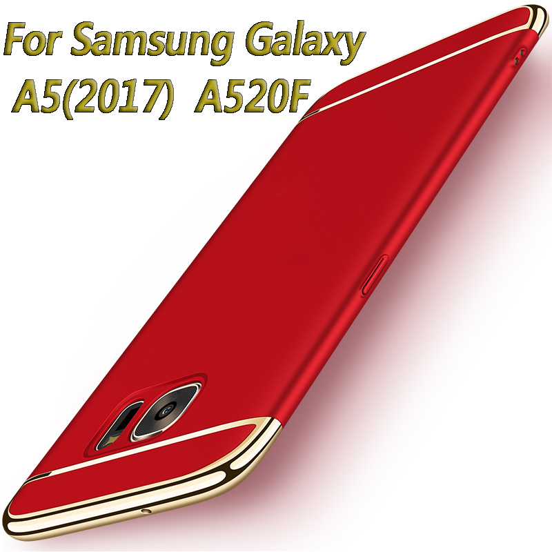 For Samsung Galaxy A5 2017 A520F case Luxury Gold Plating Armor cellphone shell back cover case for Galaxy a5(2017) A520F A5200