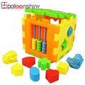 Juguete del bebé de Inteligencia Caja de Bloques de Construcción Bloques Cuadrados Coloridos Educativos Brinquedos Regalo Juego