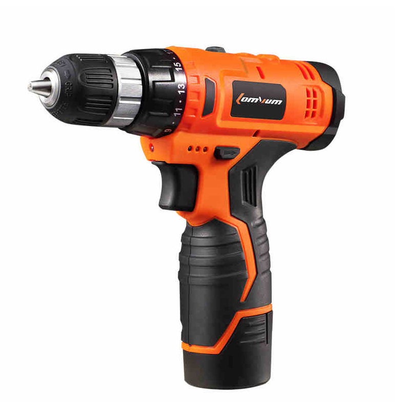 12V Cordless Drill Double/Single Speed 1Pc Rechargeable Li-Battery  Electric Drill Electric Screwdriver Power Tool Herramientas 1 pc 18v 4000mah rechargeable battery pack power tools batteries replacement cordless for bosch drill bat618 li ion vhk18 t50